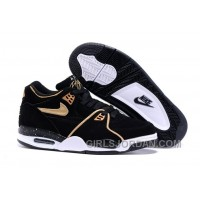 Nike Air Flight '89 Black/Metallic Bronze-White Mens Basketball Shoes Authentic