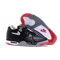 "Nike Air Flight '89 ""Bred"" Black/Cement Grey-Fire Red-White Mens Basketball Shoes Super Deals"