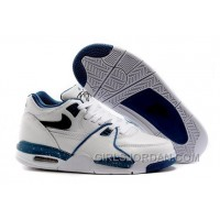 "Nike Air Flight '89 ""Obsidian Blue"" White/Dark Obsidian-Brigade Blue Mens Basketball Shoes Authentic"