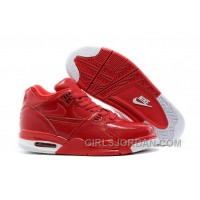 Nike Air Flight '89 Red Leather Mens Basketball Shoes Top Deals