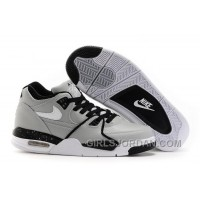 Nike Air Flight '89 Wolf Grey/Black-White Mens Basketball Shoes Discount