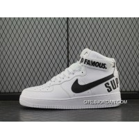 Force X Nike Air Force 1 High Af Sup White Black Women Shoes 698696-100 And 94 Men Cheap To Buy