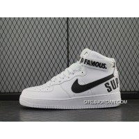 50ee328ce92 Forceful X Nike Air Force 1 High Af Sup White Black Women Shoes 698696-100