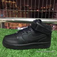 Nike Air Force One 1 Mid 07 Af1 Pure Black Top Sneakers. 315123-001 Copuon Code