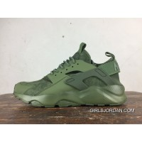 Fall Winter Style Nike Air Huarache Four 4 Texture Pig Leather Series Ultra Run All He Was Green Cheap To Buy