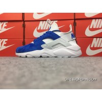 Nike Air Huarache 4 Texture Pig Leather Series Ultra Id Customized White And Blue 829669-663 Online