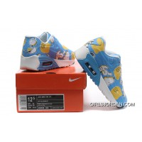 Nike AIR MAX 90 KID Hyperfuse White Blue Authentic
