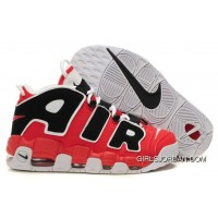 Cheap Nike Air More Uptempo Hoop Varsity Red/Black-White For Sale