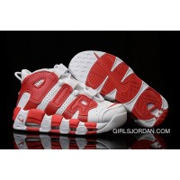 Nike Air More Uptempo White Red Mens And Girls For Sale Free Shipping