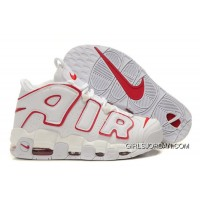 Cheap Nike Air More Uptempo White-Varsity Red New Release
