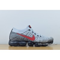 Latest 2018 Nike Air Vapormax Flyknit Men New Colorways Grey Red Zoom