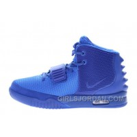 "Nike Air Yeezy 2 ""Gamma Blue"" Glow In The Dark Free Shipping"