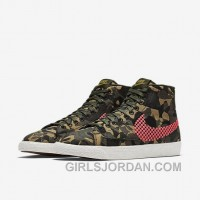 NIKE BLAZER MID JACQUARD 2017 Spring New 807382-201 Women Black Red For Sale