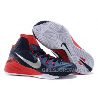 "Nike Hyperdunk 2014 ""USA Away"" Obsidian/White-University Red For Sale Super Deals"