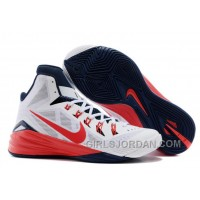 "Nike Hyperdunk 2014 ""USA"" White/University Red-Obsidian For Sale Free Shipping"
