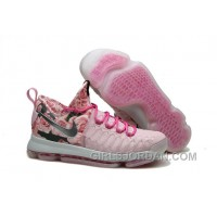 Nike KD 9 Pink Black Aunt Pearl Flora Mens Basketball Shoes Super Deals