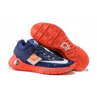 Nike KD Trey 5 IV Obsidian/Bright Crimson/Deep Royal Blue/White Authentic