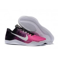Nike Kobe 11 Black/Think Pink-White Mens Basketball Shoes Free Shipping