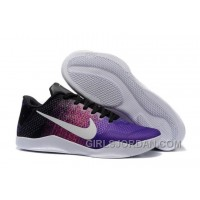 Nike Kobe 11 Black-Purple/Multi-Color Mens Basketball Shoes Top Deals