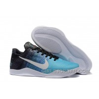 Nike Kobe 11 Black/University Blue Mens Basketball Shoes Lastest