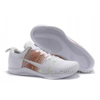 "Nike Kobe 11 Elite ""4KB"" White Horse/Multicolor Cheap To Buy"