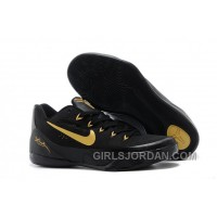 Nike Kobe 9 Low EM Black Gold Mens Basketball Shoes Christmas Deals