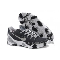 Nike Kobe 9 Low EM Black White Grey Mens Basketball Shoes Cheap To Buy