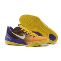 Nike Kobe 9 Low EM Court Purple/Yellow-White Mens Basketball Shoes Super Deals