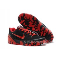 Nike Kobe 9 Low EM XDR Black Red Mens Basketball Shoes Authentic