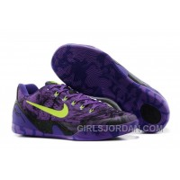 Nike Kobe 9 Low EM XDR Purple Volt Mens Basketball Shoes Authentic