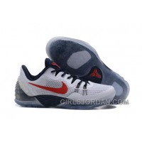 NIKE KOBE VENOMENON 5 Independence Day White Black Red Swoosh Discount