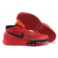"Nike Kyrie 1 ""Deceptive Red"" Bright Crimson/Black-University Red-Black Authentic"