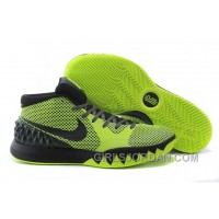 Authentic Nike Kyrie 1 Grade School Shoes Black Green