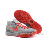 Discount Nike Kyrie 1 Grade School Shoes Grey Red