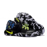 "Nike Kyrie 2 ""Camo"" Black/Neon Green Mens Basketball Shoes Super Deals"