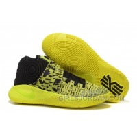 Nike Kyrie 2 Yellow/Volt-Black Mens Basketball Shoes Free Shipping