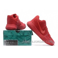 Nike Kyrie 3 Mens BasketBall Shoes All Red Authentic PA6PD