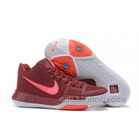 Nike Kyrie 3 Mens BasketBall Shoes Burgundy Authentic PFTyZ