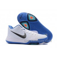 Nike Kyrie 3 Mens BasketBall Shoes White Blue Authentic 78KSZ