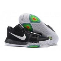 Nike Kyrie 3 Mens BasketBall Shoes Black White Free Shipping XfrJTm