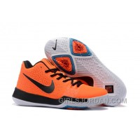 Nike Kyrie 3 Mens BasketBall Shoes Orange Black Discount SWEEEFS