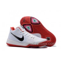 Nike Kyrie 3 Mens BasketBall Shoes White Red Christmas Deals 266hp