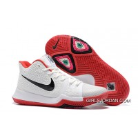 Nike Kyrie 3 White Red Black New Style