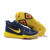 "Nike Kyrie 3 ""Cavs"" Blue Yellow On Sale Top Deals"