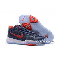 Nike Kyrie 3 Obsidian Blue/White-Red On Sale Authentic