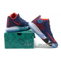 Nike Kyrie 4 Mens Basketball Shoes Blue Red Cheap To Buy