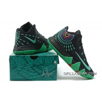 Nike Kyrie 4 Mens Basketball Shoes Black Green Discount