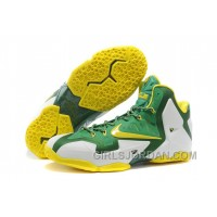 "Nike LeBron 11 ""Oregon Ducks"" PE Mens Basketball Shoes Cheap To Buy"