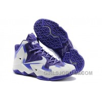 Nike LeBron 11 White/Court Purple For Sale Online