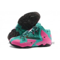Nike LeBron James 11 Pink/New Green-Black For Sale